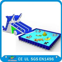 China Custom Inflatable Water Parks Pool With Slide And Toys On Land on sale
