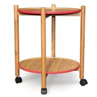 Quality China Bamboo Trolley Side Table Serving Table Tea Table for Outdoor, Living Room, Dining for sale