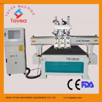 Quality Wood furniture cnc router machine with 3 pneumatic spindle tool changer 4x8 working table TYE-1325-3S for sale