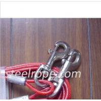 Buy Steel red pet rope dog leash 10 feet , 40 feet for Running at wholesale prices