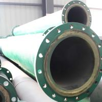 Quality Wear resistant PU lined steel pipe, PU tailing conveying pipe for sale