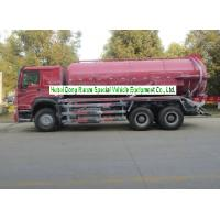 Quality Sinotruk Howo 18000L Sewage Suction Truck With Vacuum Pump 10 Wheeler for sale