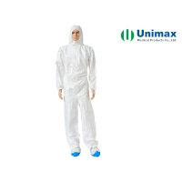 Quality Unimax Medical Microporous 65gsm Disposable Chemical Suit for sale
