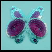 China Creative butterfly sequin applique on sale