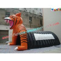 Quality Custom Inflatable Party Tent , Tiger Tunnel Tent For Advertising for sale