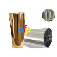 Buy cheap BOPP Thermal Metalized Film Various Color 52 Dynes Double Corona Treatment from wholesalers