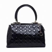 Quality Stylish Female Handmade Leather Handbags For Autumn , Top-zip Clutch Bag for sale