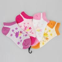 Quality Comfy Cotton + Spandex + Nylon Pink / Orange / Purple Novelty Little Girls Ankle Socks for sale