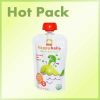 China Safety food grade plastic reusable baby food spout pouch on sale