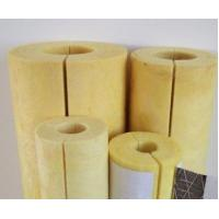 China sound reduction glass wool pipe insulation on sale