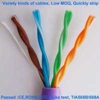 Quality Non Shielded Halogen Free CAT5E Network Cable 24AWG UTP HDPE for sale