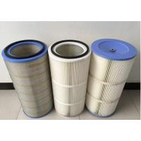 Quality HEPA Air Pleated Filter Cartridge For Dust Collector 0.2 Micron Porosity for sale