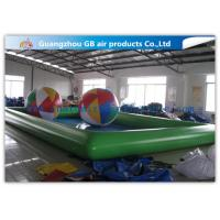 China Green Inflatable Swimming Pool Toys , Inflatable Kiddie Pools With Colorful Balls on sale