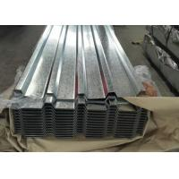 Quality White Grey Galvanized Metal Roof Panels , Exhibition Halls Galvanized Steel Corrugated Sheet for sale