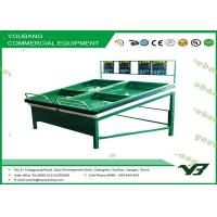 China Iron Light Duty Single Side fruit and vegetable stands and displays for supermarket wholesale