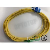 Quality Duplex Yellow Fiber Optic Patch Cord Single Mode FC / UPC - FC / APC 20 Mm for sale