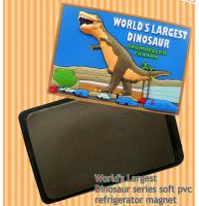 China World's Largest Dinosaur custom design soft pvc refrigerator magnet for promotion gifts on sale