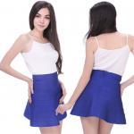 Fashion ladies high elastic apricot short bandage dress mini skirt