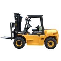 Quality Mining Enterprises Sit Down Counterbalanced Forklift , 7 Ton Heavy Duty Forklift for sale