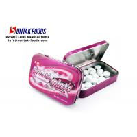 Quality Black Currant Flavor Meta Tin Box Candy Round Shaped Eco-Friendly for sale