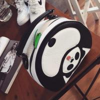China 2015 Fashion Europe Women Tote Handbag Leather Panda stylish Bag Black White on sale