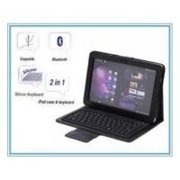 Quality Foldable Samsung Galaxy Tab Silicon Bluetooth Keyboard with PU Leather Case P7300 P7310 for sale