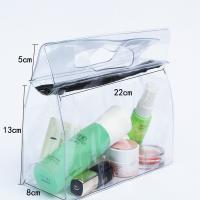 Buy Transparent Travel Kit Makeup Organizer Pouch with Punching Holes Handles at wholesale prices