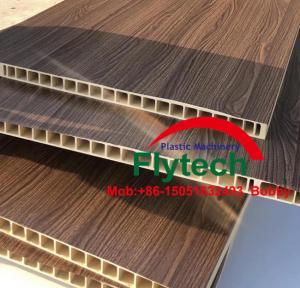 Quality PVC BASED WPC DOOR PANEL MAKING MACHINE / PVC PROFILE EQUIPMENT / PVC DOOR PANEL PRODUCTION LINE / PVC DOOR PANEL PLANT for sale