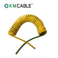 Quality Solar Light Tower coiled electrical cable 7 core0.75sqmm TPU flexible extension cord for sale