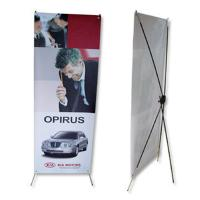 China Portable adjustable x banner stand W60-80 x H160-180cm Aluminum Material on sale