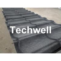 Quality Sand Metal Stone Coated Roof Tile Machine , Steel Roof Tile Production Line for sale