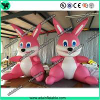 Quality Cute Pink Inflatable Rabbit,Giant Pink Inflatable Bunny, Party Inflatable Animal for sale