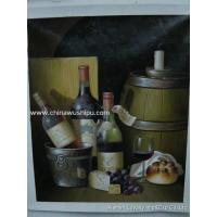 Quality Supply Wine-bottle Oil Painting for sale