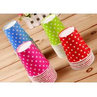Quality Children Lovely Single Wall Paper Cups For Hot Cold Drinks , Logo Printing for sale