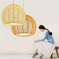 Quality Rattan weaving bamboo Pendant Lamp For Indoor Home Lighting Fixtures (WH-WP-19) for sale