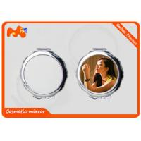 China Small Sublimation Compact Mirror For Wedding Gift Convenient Carrying on sale