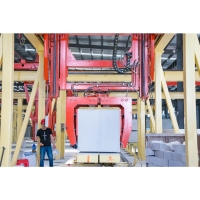 Quality ISO9001 380V Rotary Crane AAC Block Cutting Machine for sale