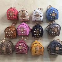 Quality MCM Coin purses mini backpack bag keychain with rivet change purse credit card holder wholesale cheap replica for sale