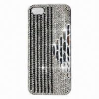 Quality Cellphone Case for iPhone 5, Chrome Coating PC, Diamante Case, Available in Various Colors for sale