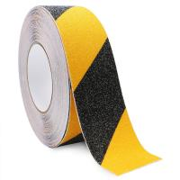 Quality Yellow Black Anti Slip Adhesive Safety Tape High Traction Warning For Outdoor Steps for sale