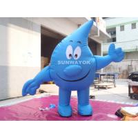 Water Drop Advertising Costumes , Light Weight inflatable mascot suit