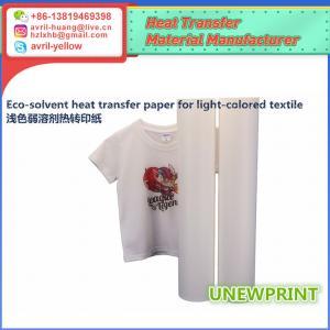 Quality 0.5m*30m light color eco solvent PU wholesale factory made roland mimaki printer heat transfer vinyl for sale