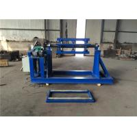 Quality Steel / Aluminum Coil Sheet Metal Decoiler For Expanded Metal Machine Blue Color for sale