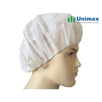 Quality Women'S White 10g Surgical Disposable Non Woven Bouffant Cap 21 inch for sale