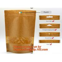 Quality custom resealable recyclable kraft paper square bottom zipper bag, standup Zipper seal Kraft Paper Coffee Bag with Side for sale