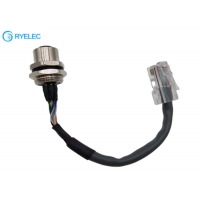 Quality Custom M12 8 Pin Panel Mount Waterproof Female Connector To Rj45 Round Network Cable for sale