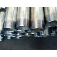 Quality Seamless GI Steel Pipes with threading and couplings for sale