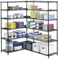 China Office Supplies Metal Storage Shelves Heavy Duty Adjustable 4 Tier Wire Rack on sale