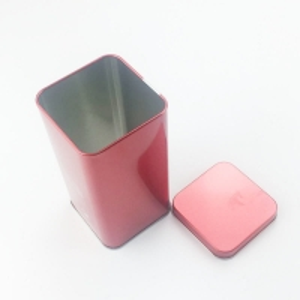 Quality 50G Tea Portable Black Gold Red Color Airtight Small Square Tin Box for sale