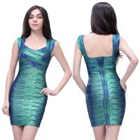 Quality Hottest styles!!!Simple design elegant ladies multicolor sexy short bandage evening dress for sale